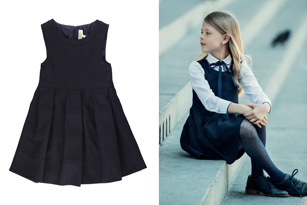 Aletta back to school 2015 navy blue sleeveless pinafore dresses