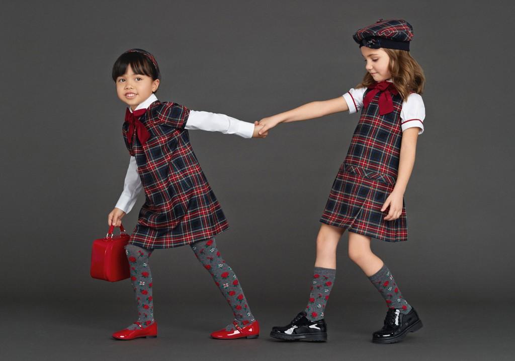 Dolce & Gabbana back to school 2015 tartan dresses