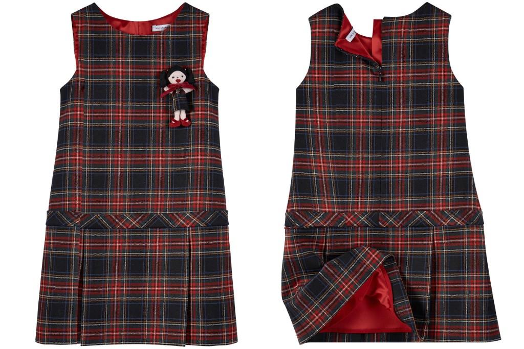Dolce & Gabbana back to school 2015 tartan pinafore dresses