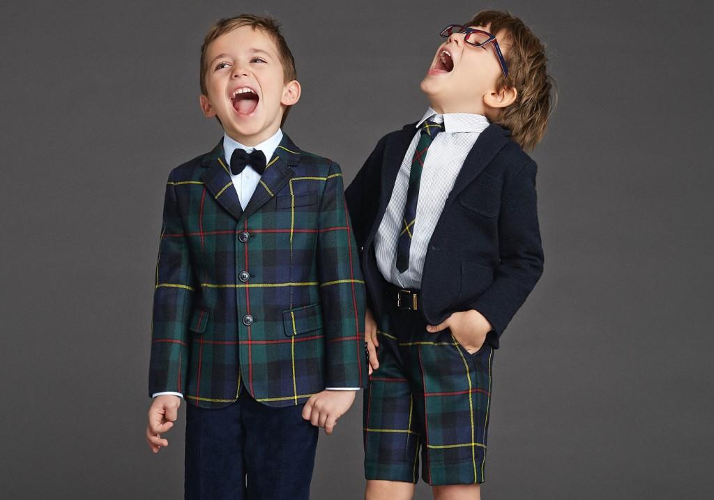 Dolce & Gabbana back to school 2015 boy tartan outfit
