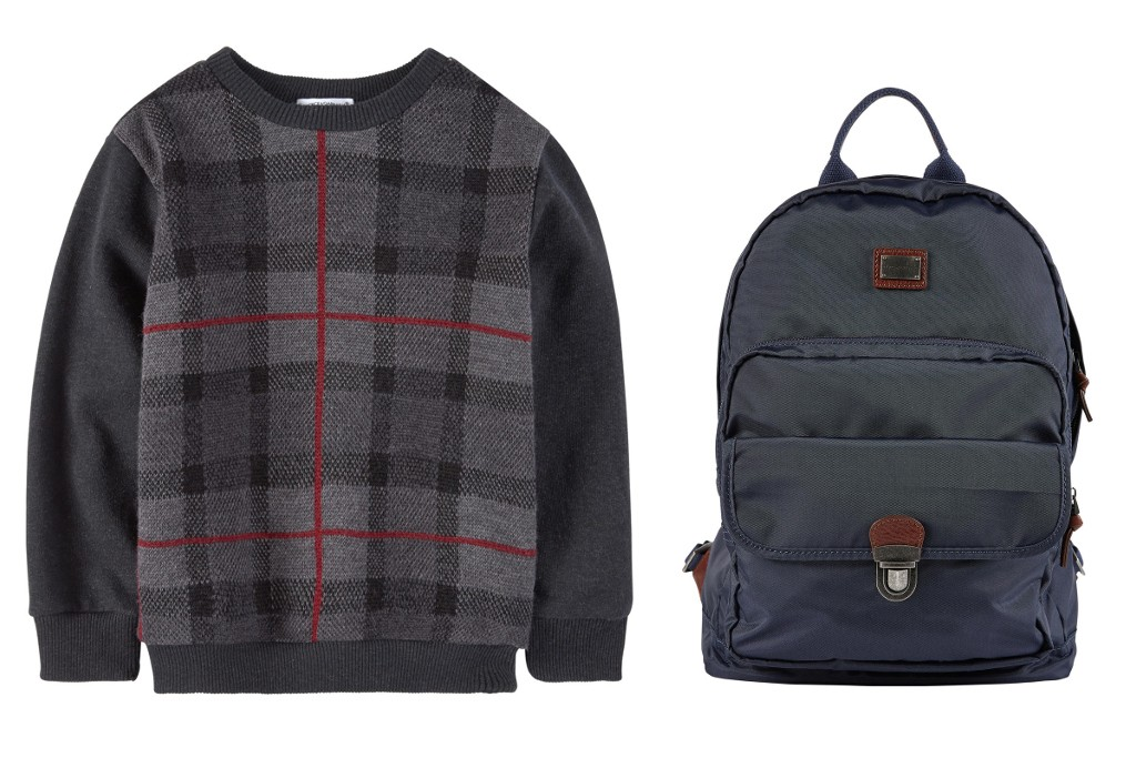 Dolce & Gabbana back to school 2015 - boy tartan sweater