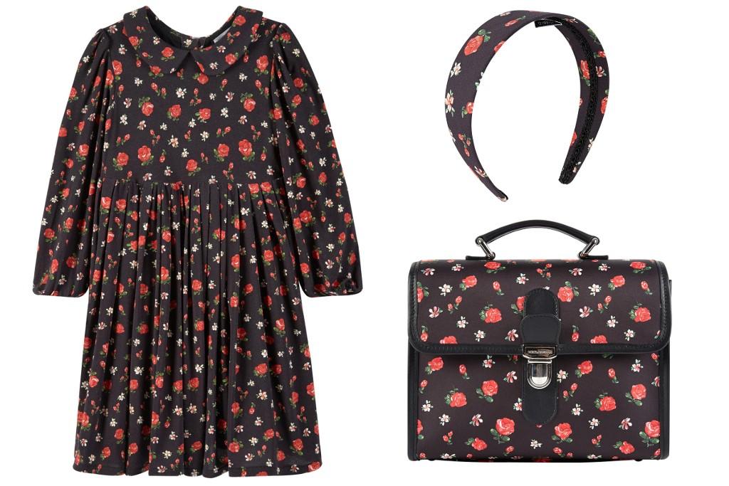 Dolce & Gabbana back to school 2015 black dress with flowers