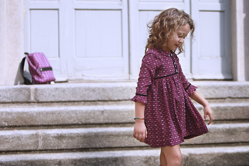 Fendi kids back to school 2015 purple dress with monsters