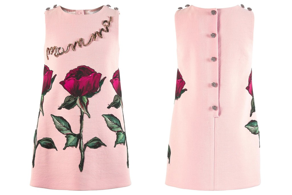 Dolce & Gabbana fall winter 2015 pink sleeveless mini-me dress