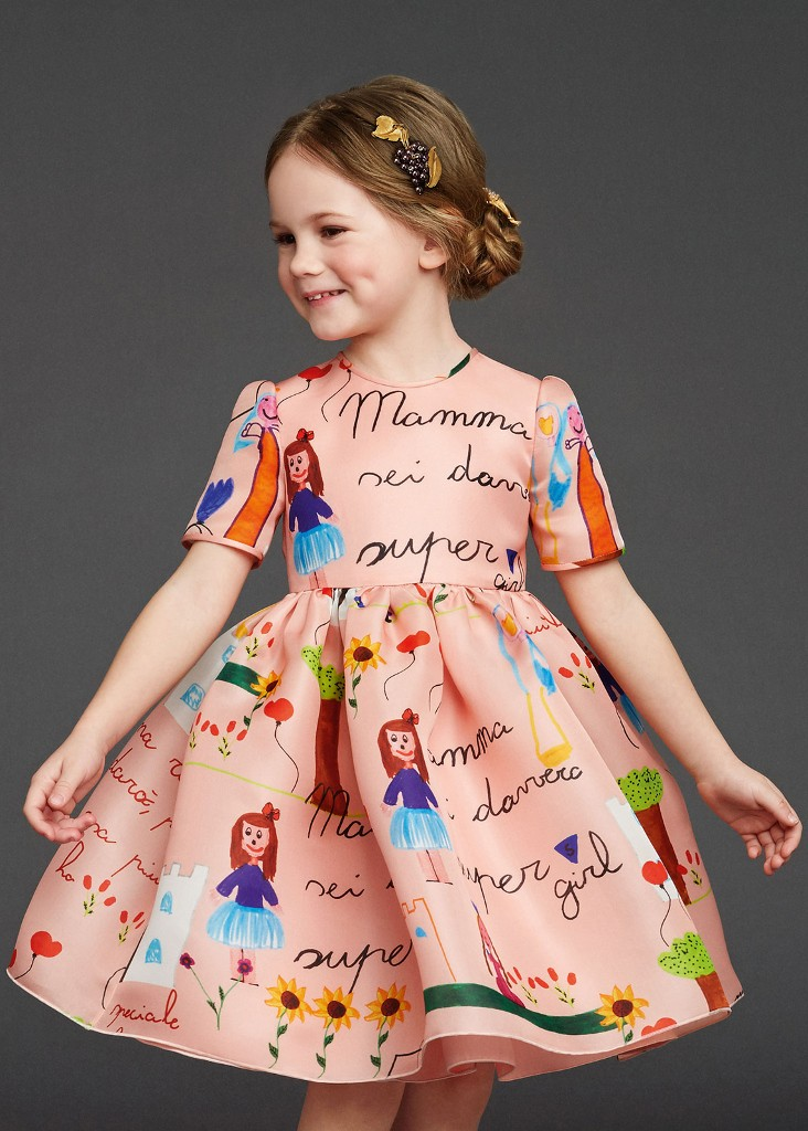 Dolce & Gabbana fall winter 2015 child Mamma dress