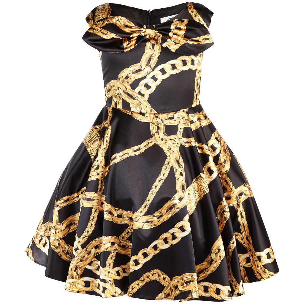 Moschino fall winter 2015, mini-me elgant balck dress