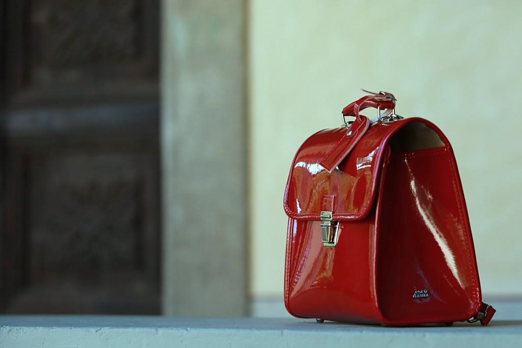 Escudama little red schoolbag