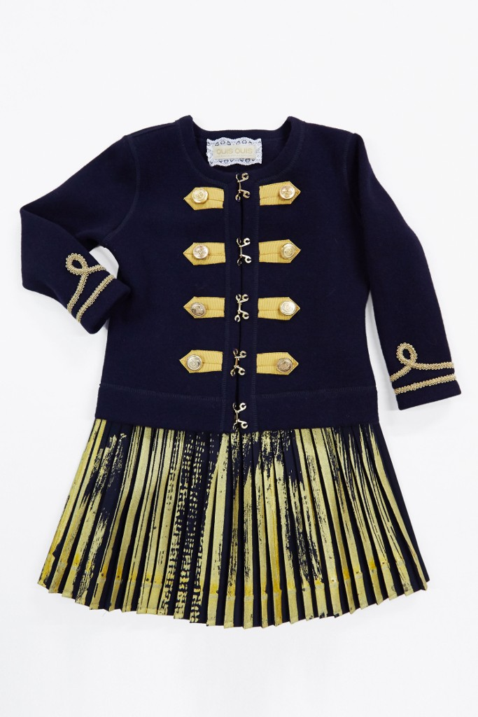 Quis Quis back to school 2015 blue and gold outfit