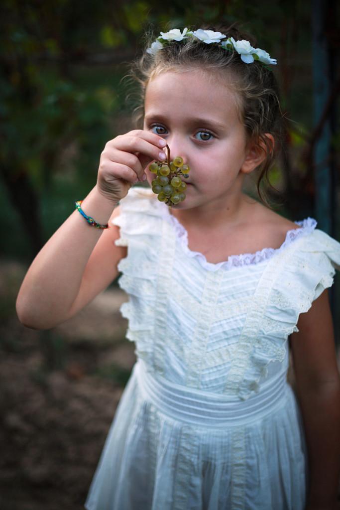 Grape harvest 2015 Anna wearing Essentiel Girl Antwerp dress