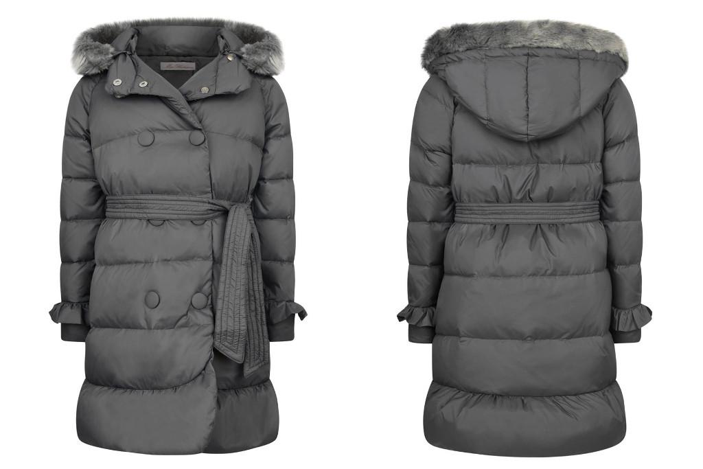 Miss Blumarine Winter 2015 Dark green long down padded coat