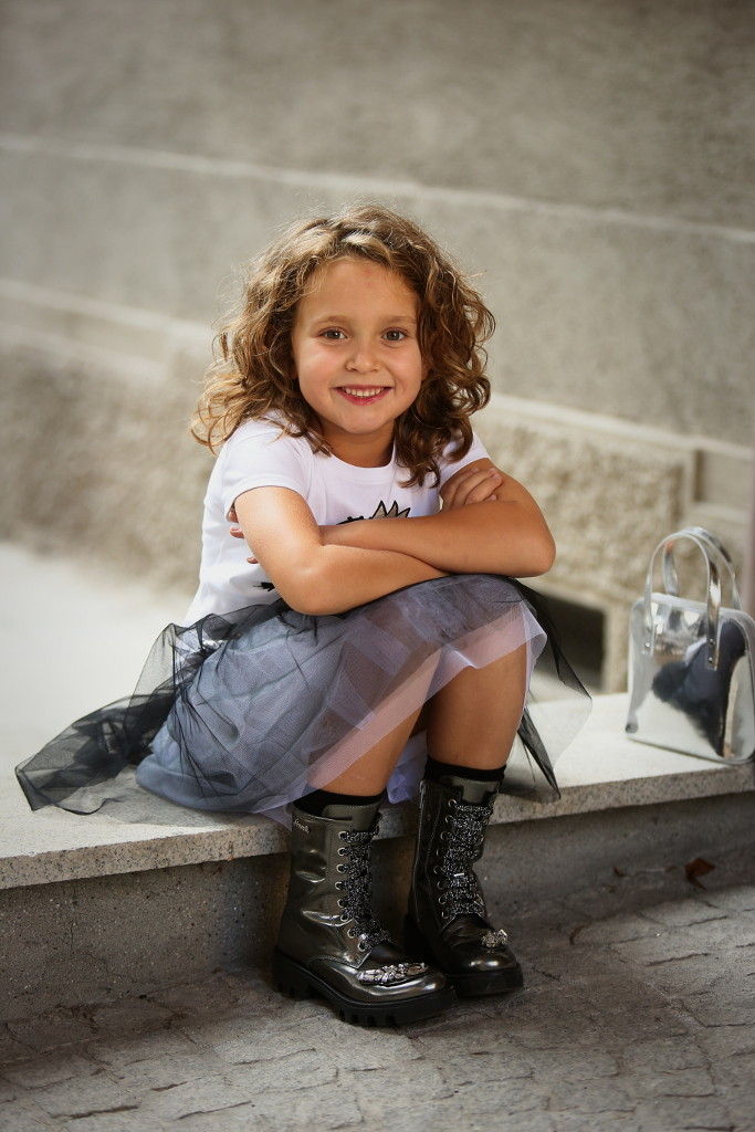 Simonetta back to school 2015 black tulle skirt
