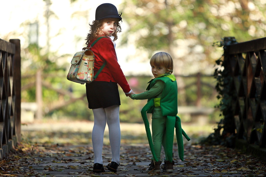 Halloween kids costumes Pinocchio and cricket