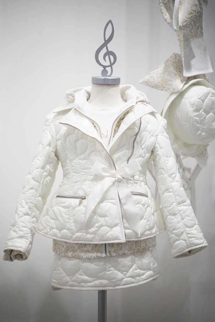 Mimisol winter 2015 white down padded coat