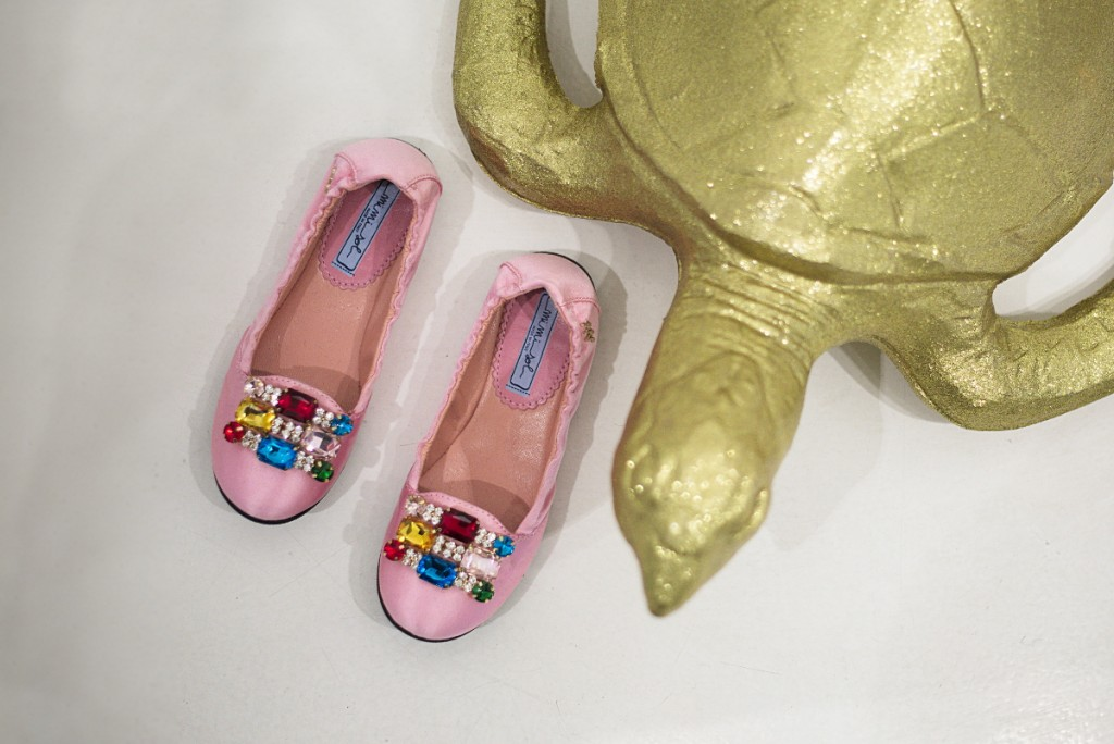Mimisol winter 2015 light pink shoes with gems