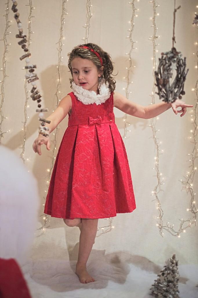 Sarabanda winter 2015 red dress