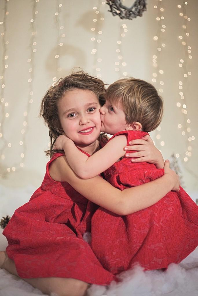 Sarabanda winter 2015 red sleeveless dress