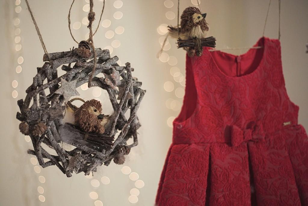 Sarabanda winter 2015 red dress for christmas