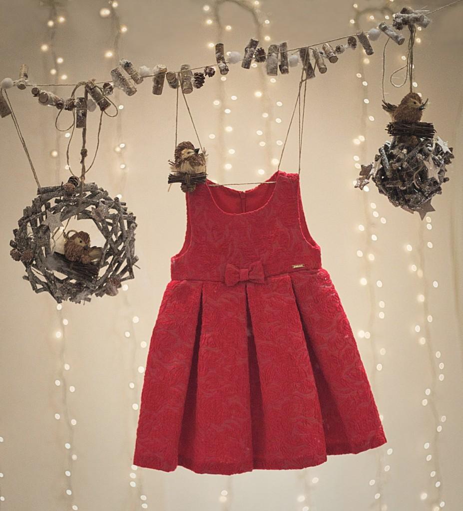 Sarabanda winter 2015 red christmas dress