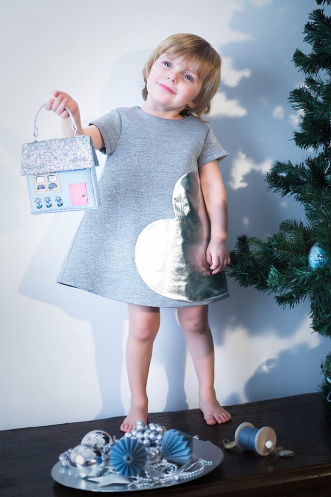 Simonetta winter 2015 heart patch grey dress