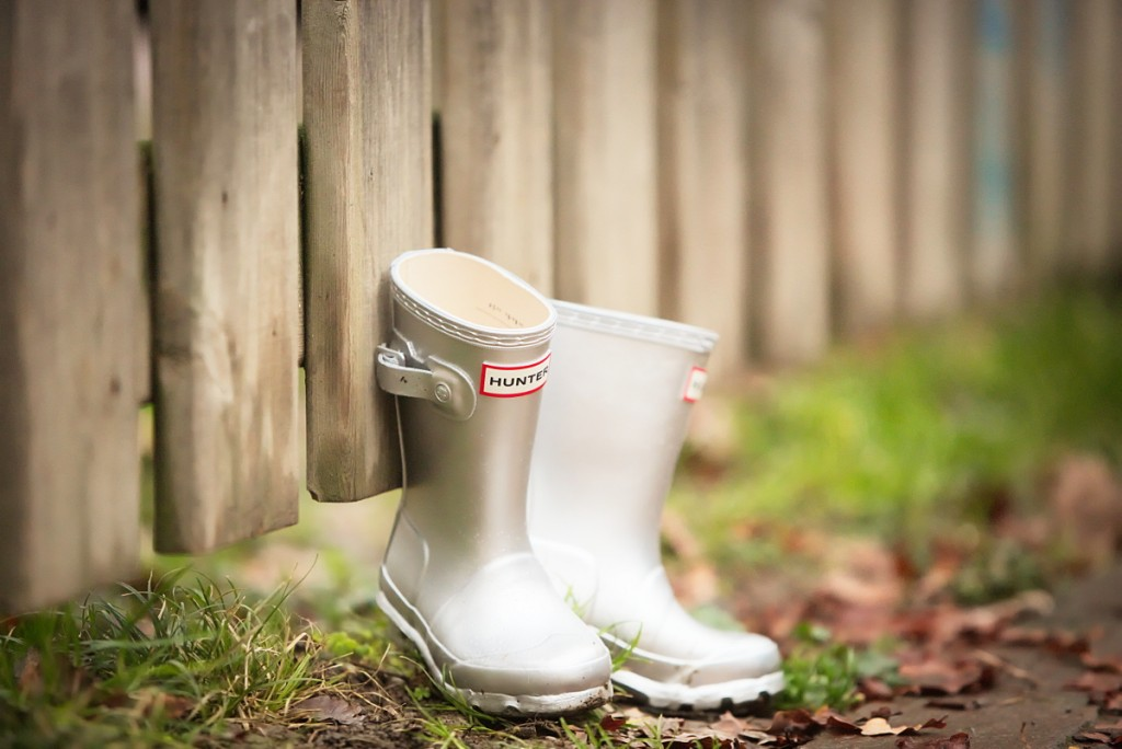 Silver Hunter Boots for girls