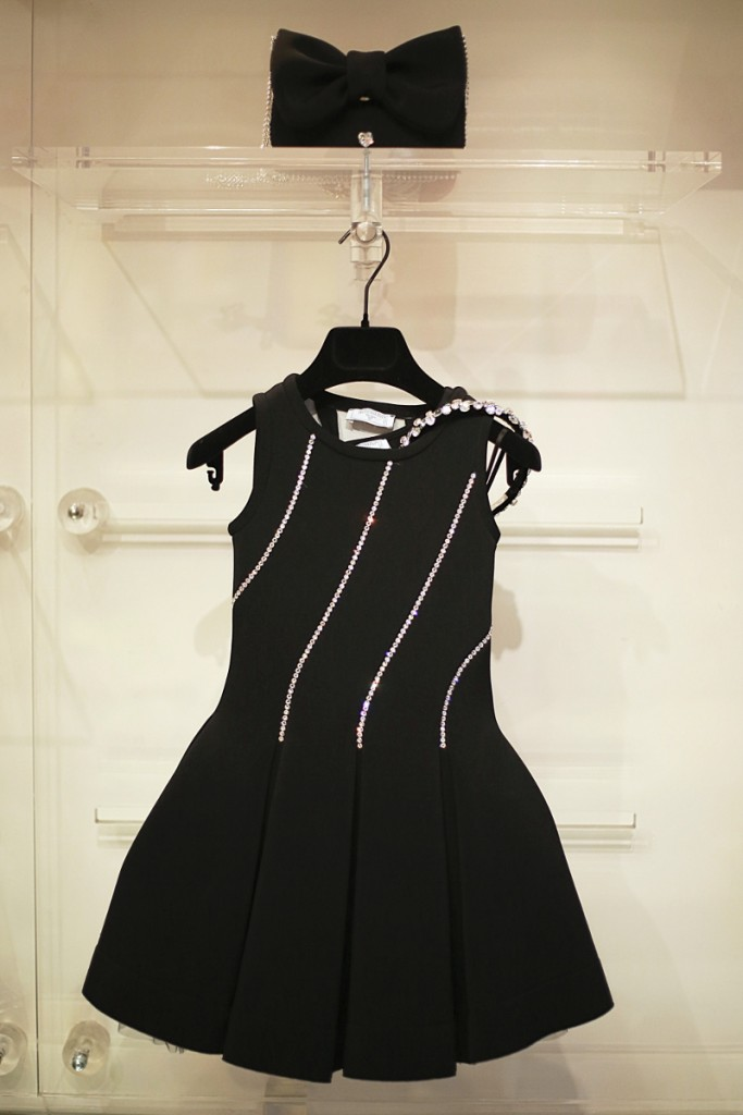 Monnalisa winter 2015 black dress with gems