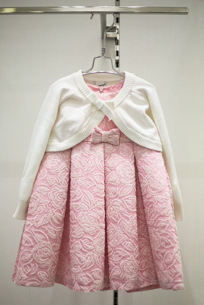 Sarabanda winter 2015 pink dress with bow