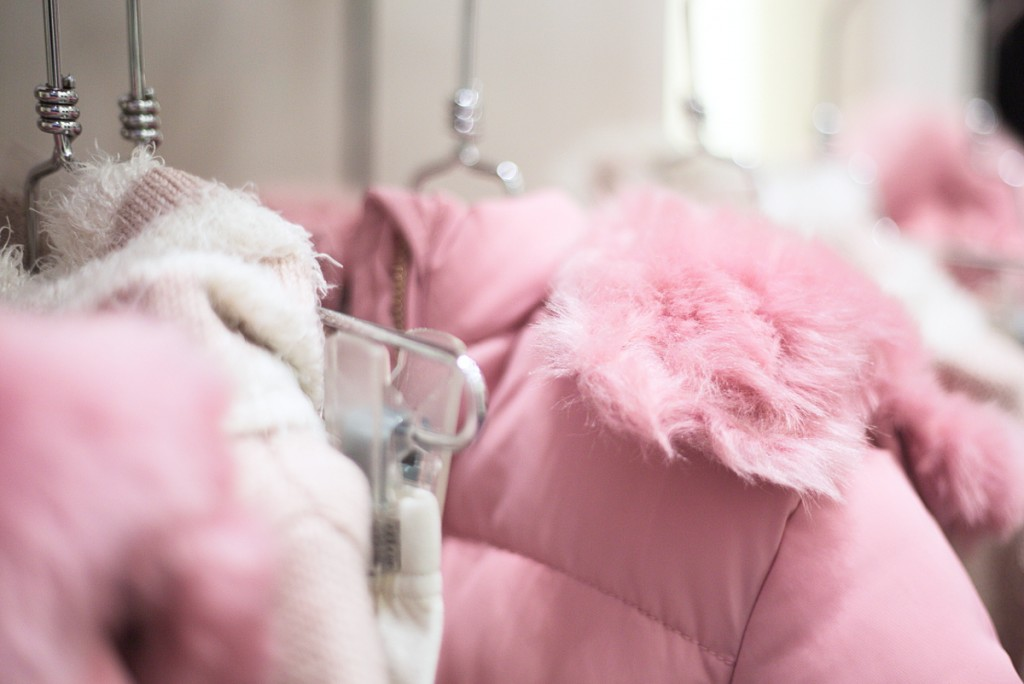 Sarabanda winter 2015 pink down coats