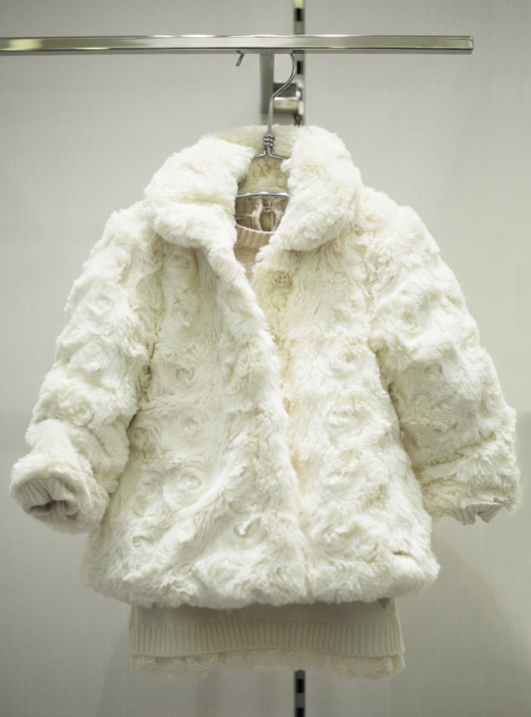 Sarabanda winter 2015 cream techno fur