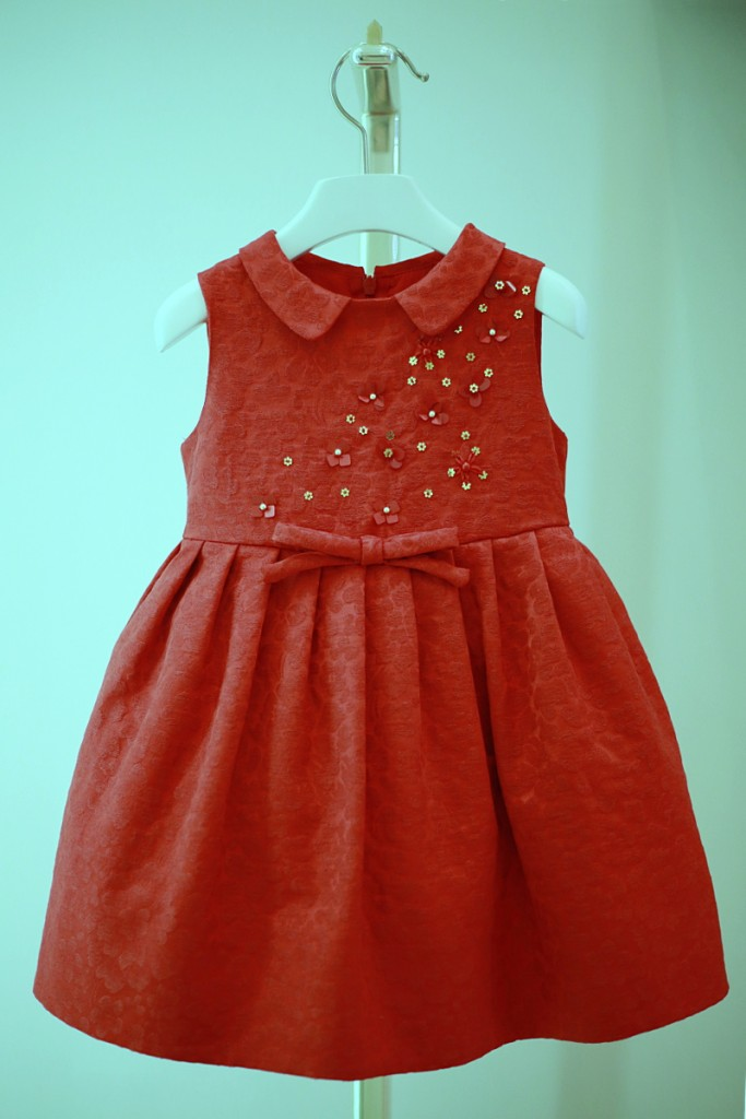 Simonetta winter 2015 red dress