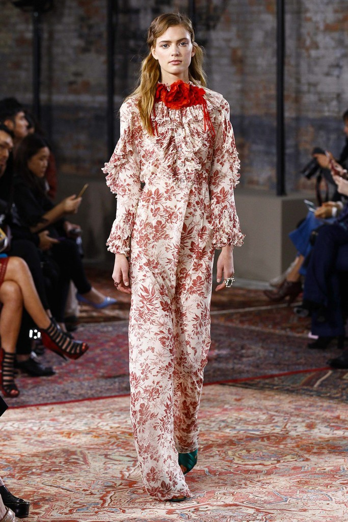 Gucci fashion show for the presentation of the resort 2016 collection