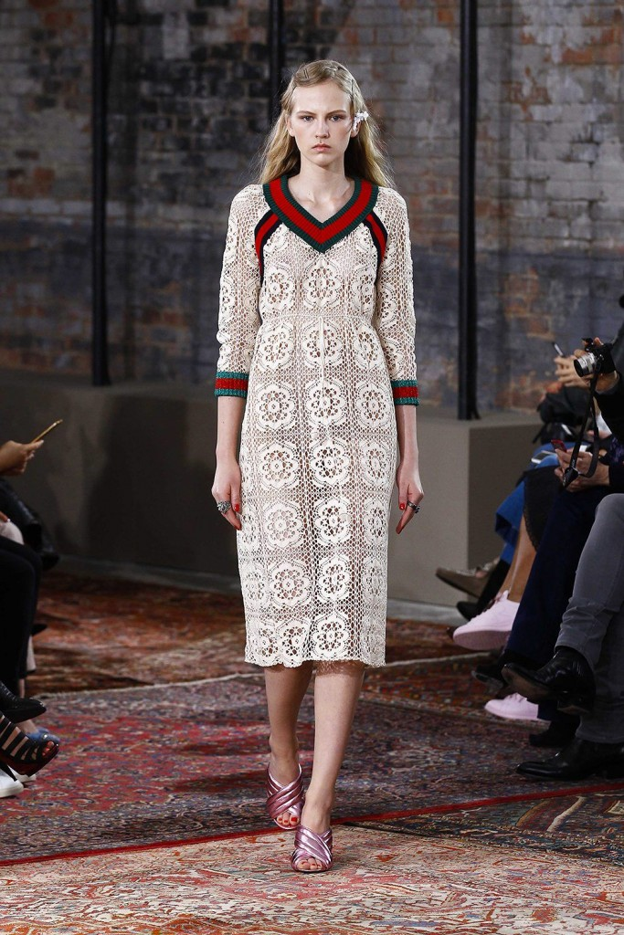 Gucci fashion show for the presentation of the cruise 2016 collection