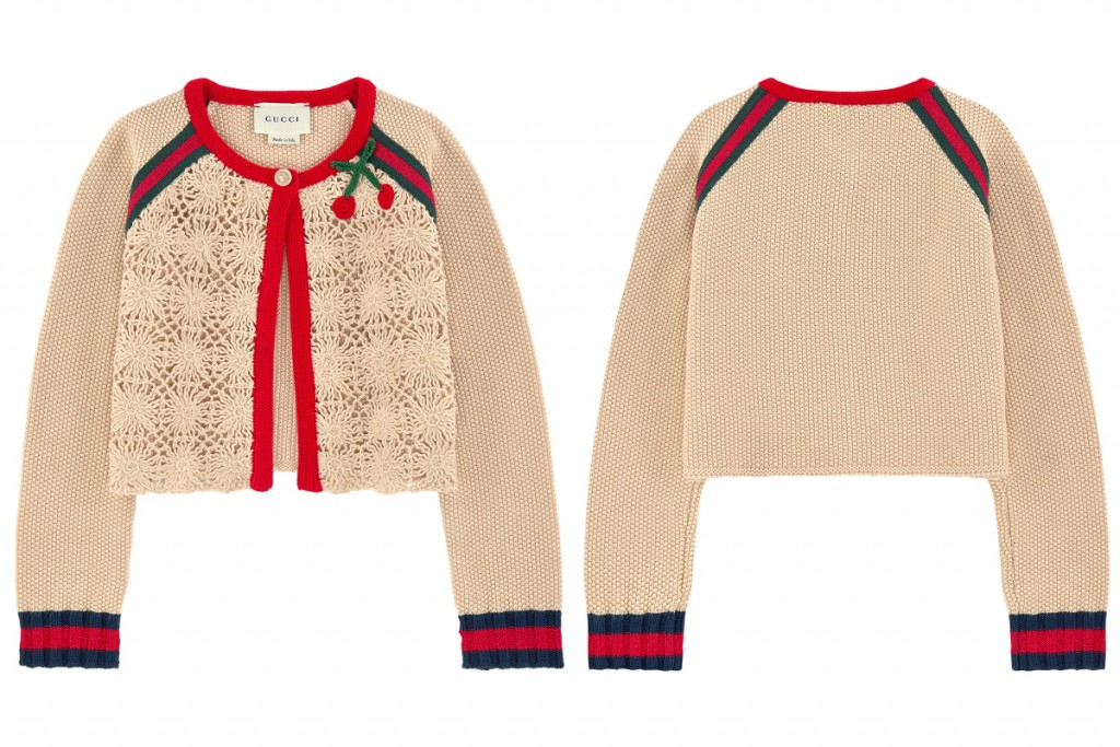 Gucci summer 2016 girls crochet knit cardigan