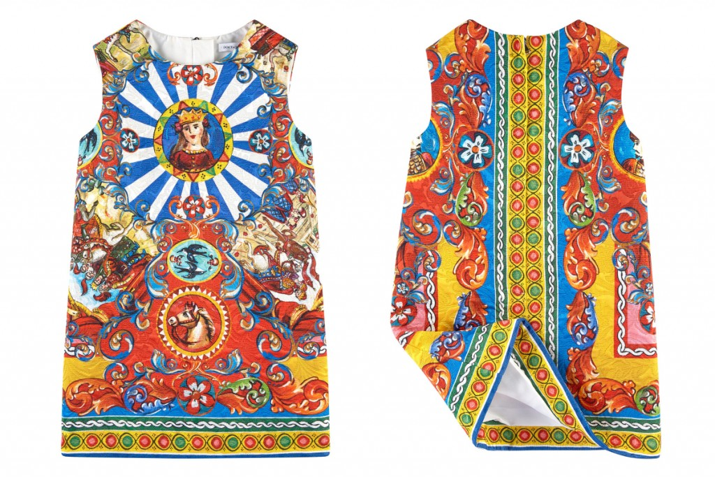 "Dolce and Gabbana summer 2016 mini me dress with ""Carretto Siciliano"" print"