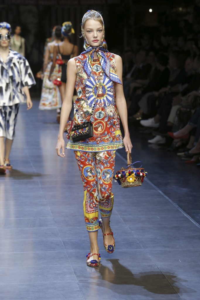 Milan Fashion Week Dolce and Gabbana fashion show for spring 2016