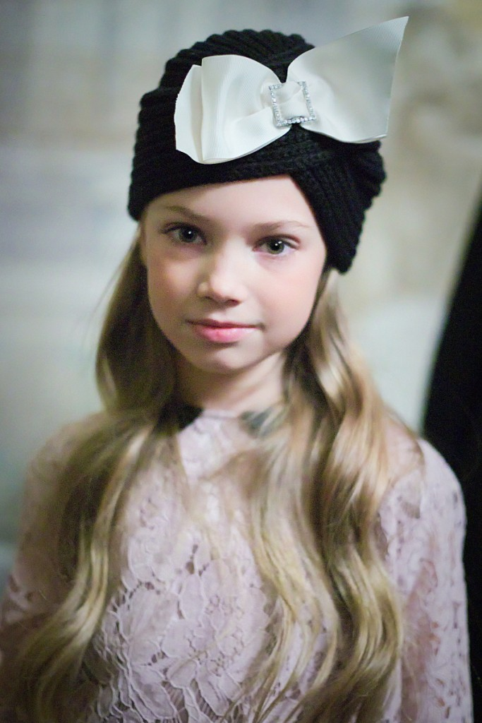 Monnalisa backstage of kids fashion show presenting winter 2016/17