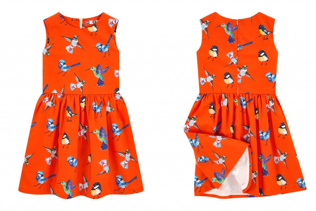 MSGM summer 2016 girls orange sleeveless dress