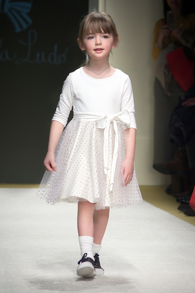 Pitti Bimbo 82 Piccola Ludo white dress