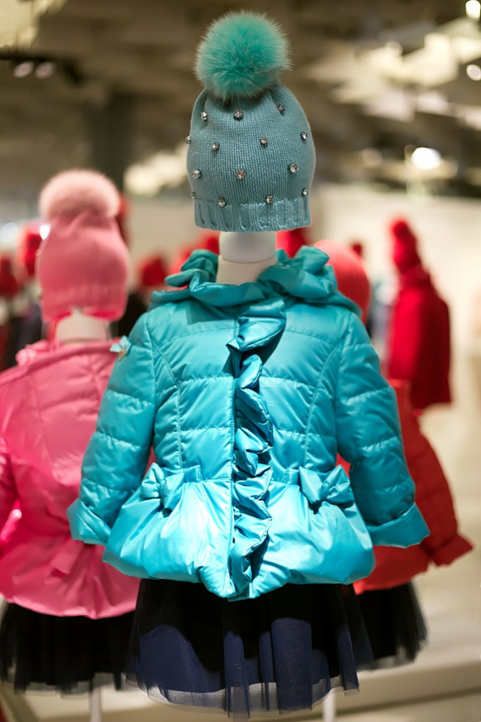 Pitti Bimbo 82 Aletta winter 2016 mint green down padded jacket