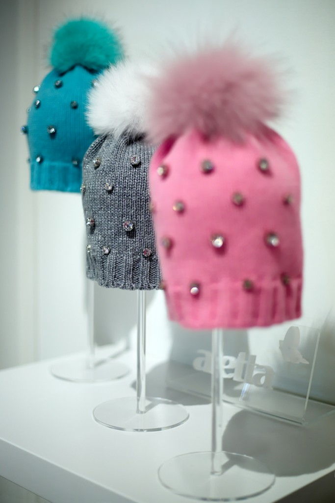 Pitti Bimbo 82 Aletta winter 2016 wool hats with stones and fur