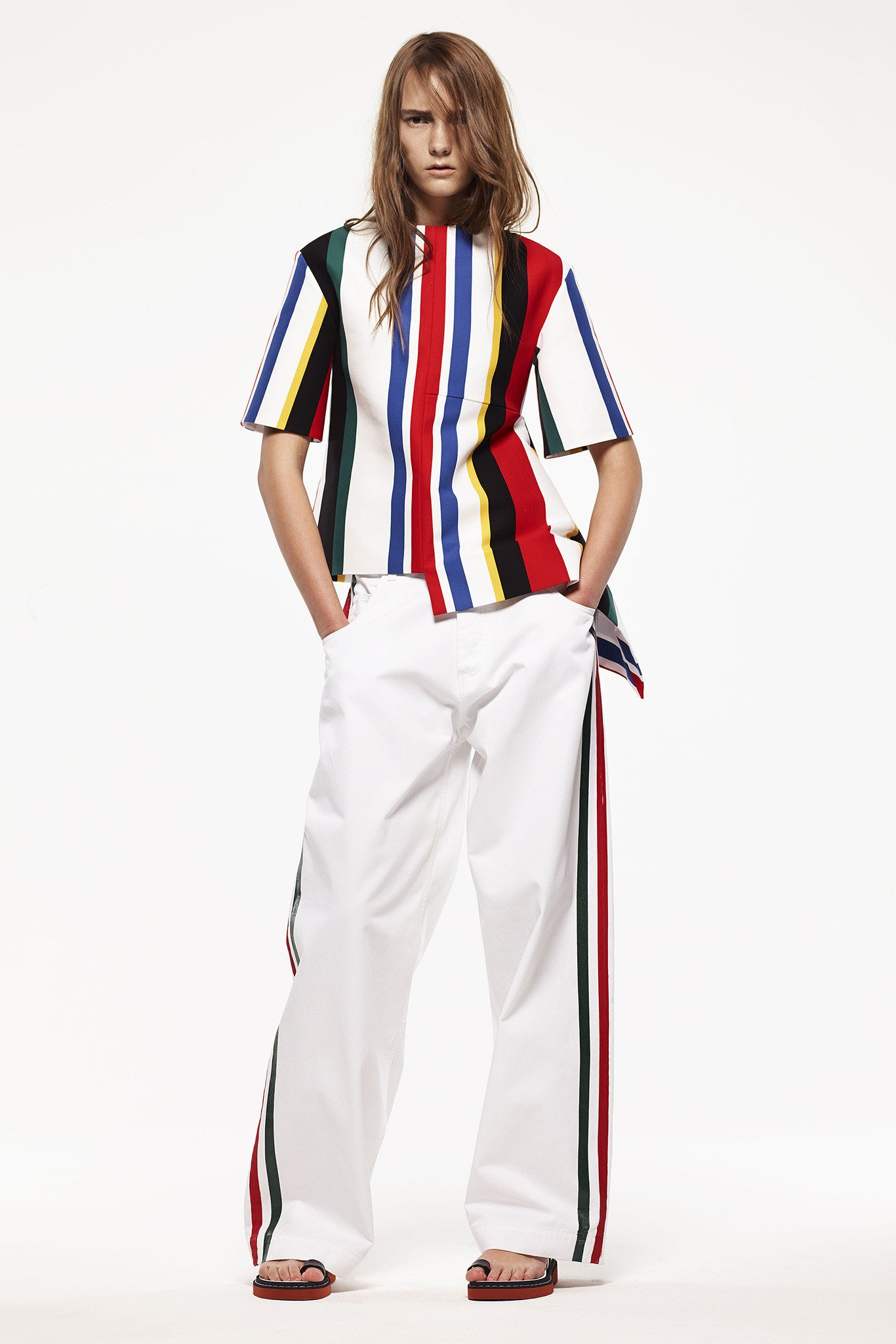 Marni junior spring summer 2016 stripes