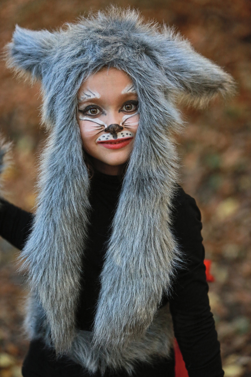 DIY Halloween kids costumes little red riding hood and ...