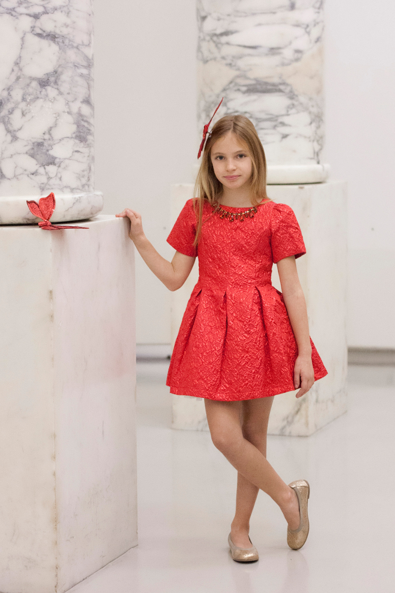 Paesaggino fall winter 2016 red dress