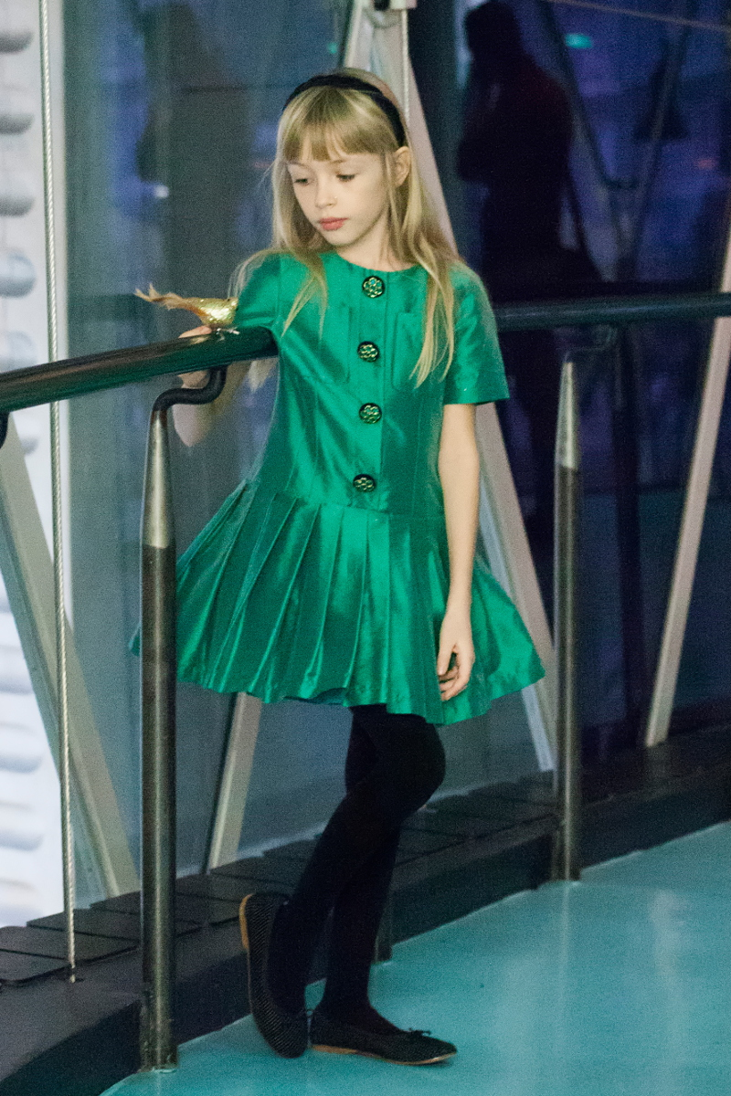 The colours of Christmas green Quis Quis green dress