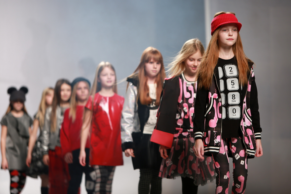 Yclu fashion show at Pitti Bimbo 84