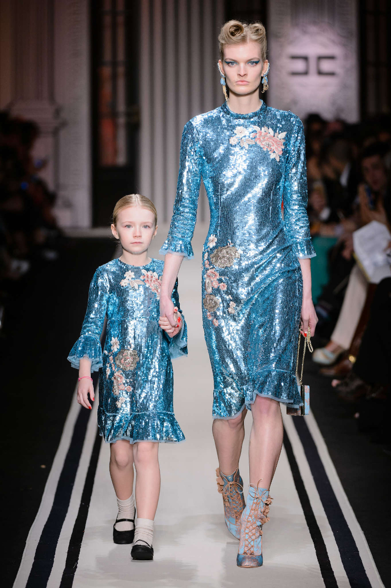 Milan Fashion Week Spring Summer 2018 and fall winter 2017 mini-me outfits