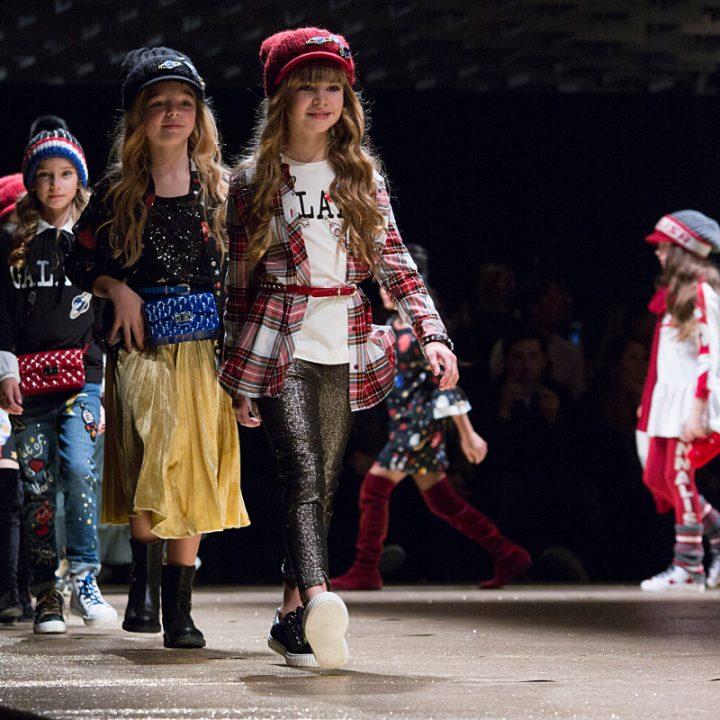 Monnalisa fall winter 2018 fashion show Pitti Bimbo 86