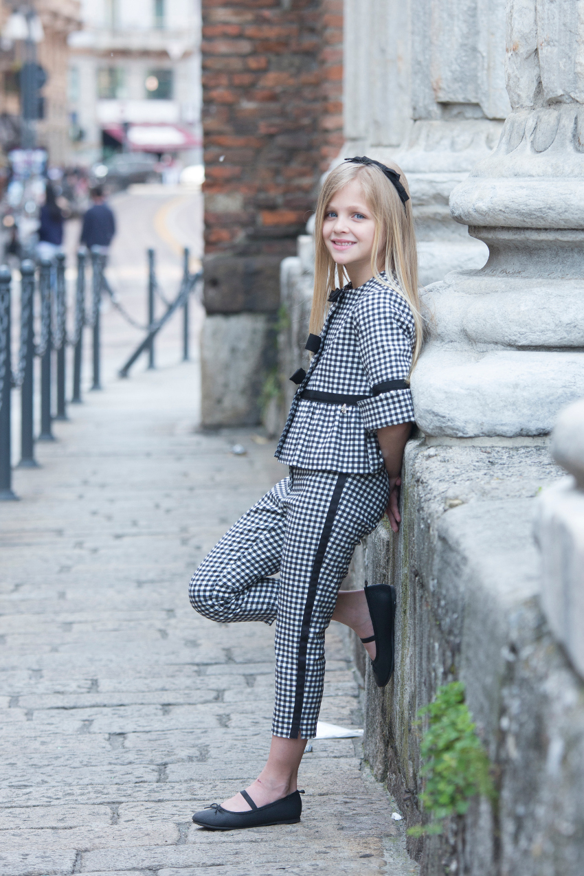 Total look Vichy print Miss Grant spring summer 2018