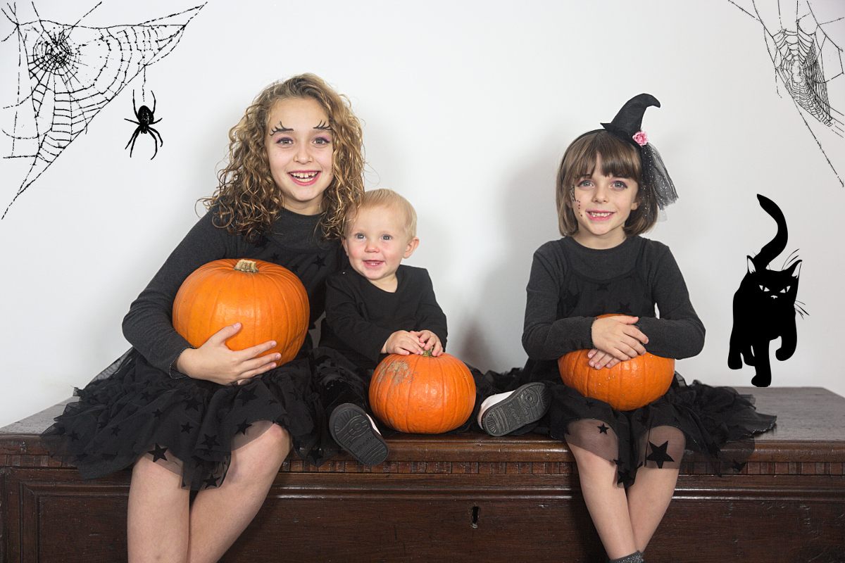 Halloween 2018 with three witches