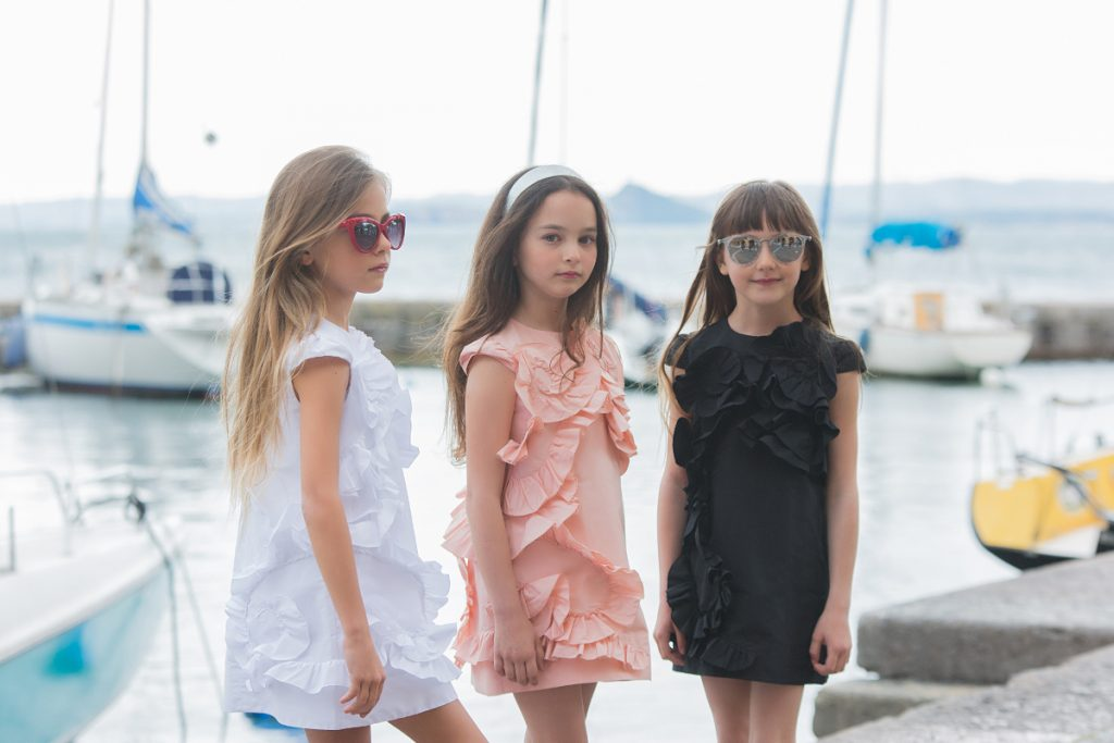 Lake Garda in Simonetta ss19 sleeveless dress