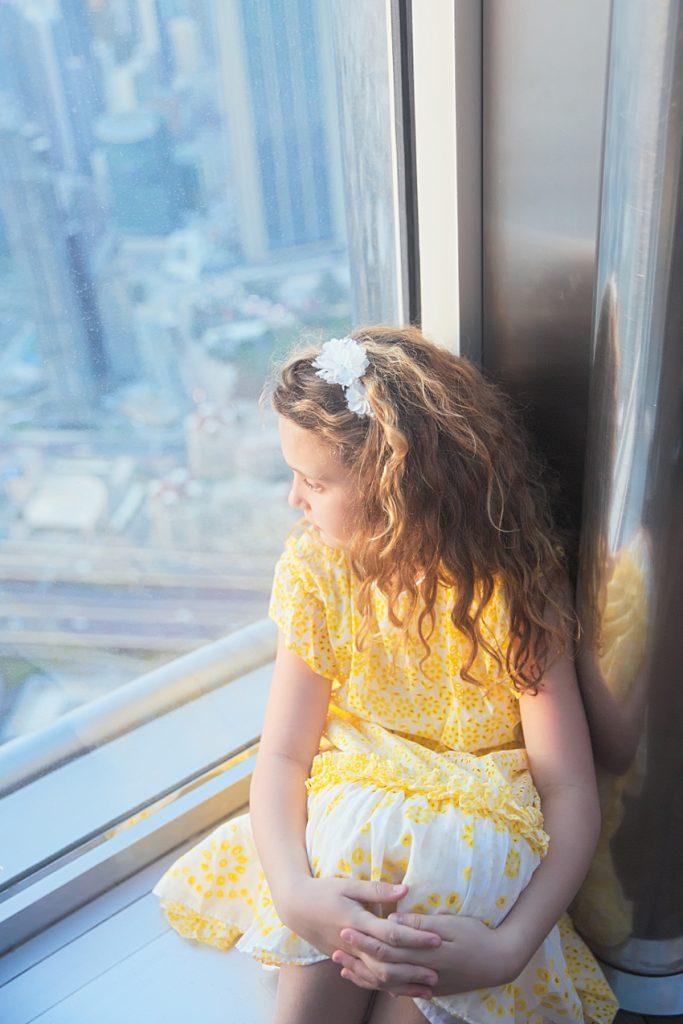 At the top of Burj Khalifa in Simonetta spring summer 2091